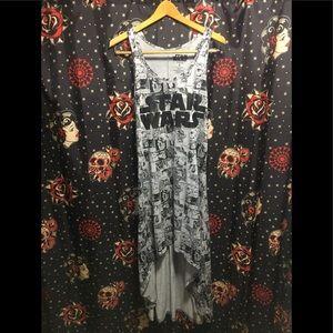 Star Wars Racer Back T Shirt Dress Ladies Size S